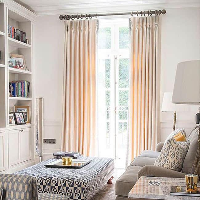 Cream Silk Curtains Dubai