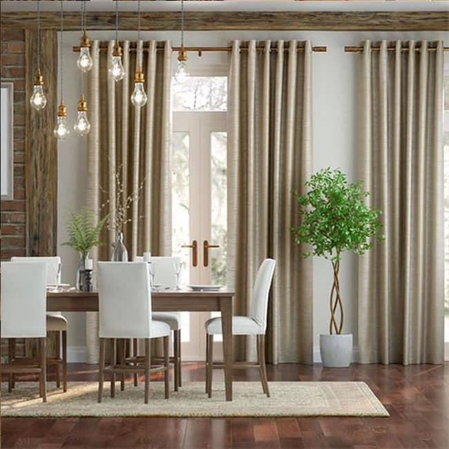 Grey Silk Curtains UAE