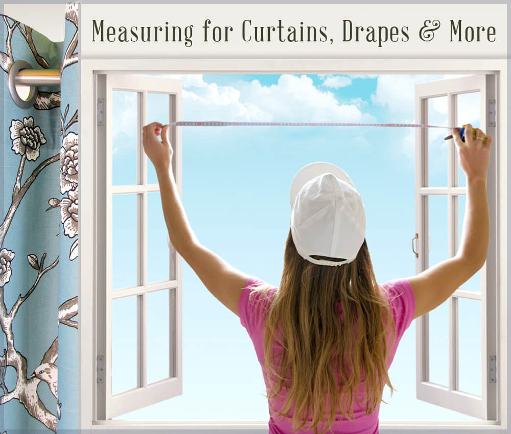 How to measure curtain size